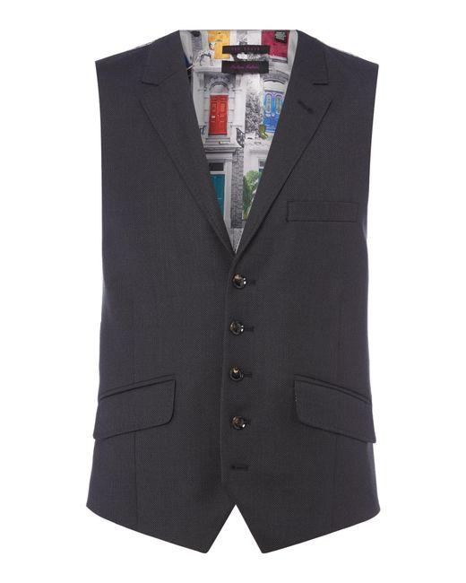 Ted Baker | Gray Chalky Pin Dot Waistcoat for Men | Lyst