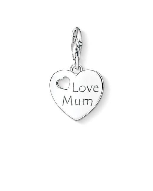 Thomas Sabo | Metallic Charm Club Love Mum Pendant | Lyst