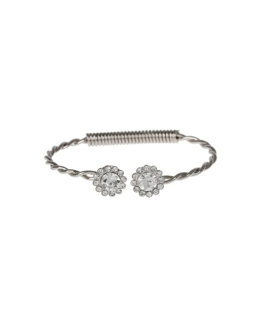 Mikey - Metallic Large Crystal Caps Twisted Centre Cuff - Lyst