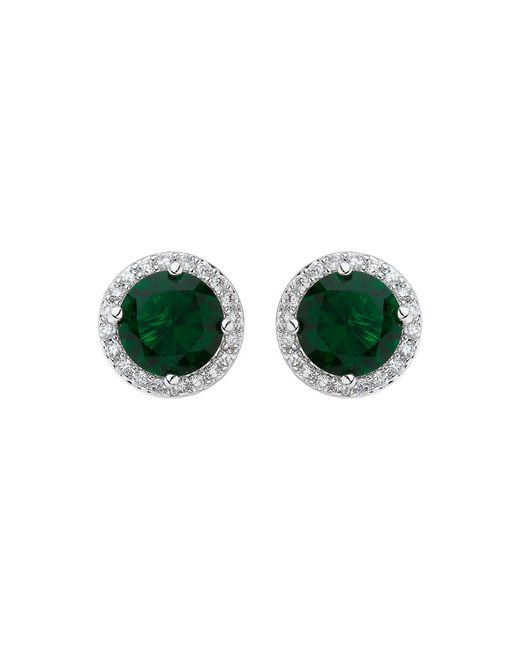 Mikey | Green Filigree Round Cubic Centredropearring | Lyst