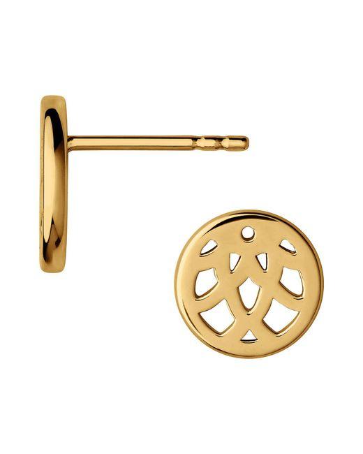 Links of London - Metallic Timeless 18kt Yellow Gold Vermeil Stud Earrings - Lyst