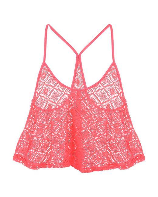 Jane Norman   Pink Peach Crochet Swing Top   Lyst