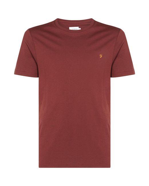 Farah   Red Men's Denny Slim Marl T-shirt for Men   Lyst