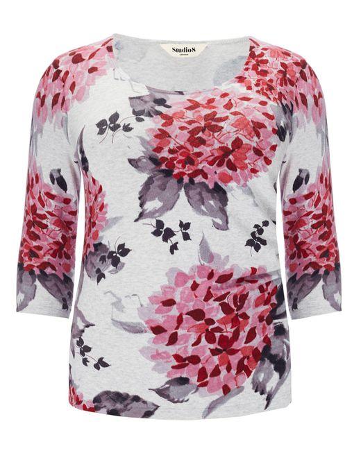Studio 8 | Pink Plus Size Hydrangea Print Jumper | Lyst