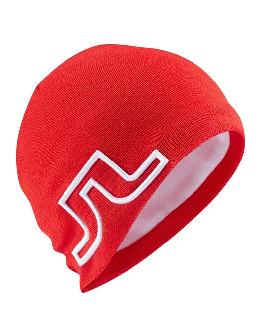 J.Lindeberg - Pink Acrylic Mix Beanie Hat for Men - Lyst