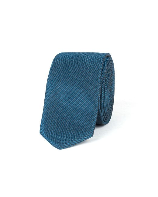 Limehaus - Blue Self Stripe Tie for Men - Lyst