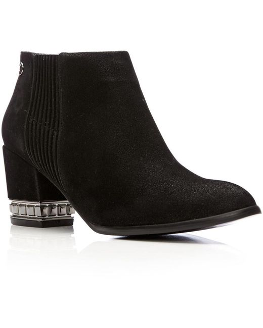 Moda In Pelle Black Kemena Medium Smart Short Boots