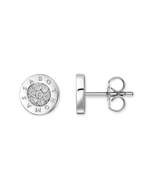Thomas Sabo - Metallic Signature Diamond Pavé Ear Studs - Lyst