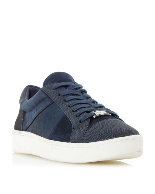 Dune - Blue Egypt Lace Up Trainers for Men - Lyst