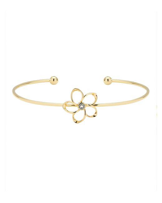 Ted Baker | Metallic Beysa Gold Crystal Blossom Cuff | Lyst