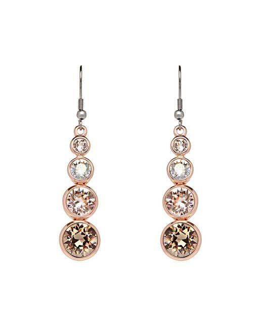 Karen Millen - Metallic K04724161 Swarovski Teardrop Earrings - Lyst