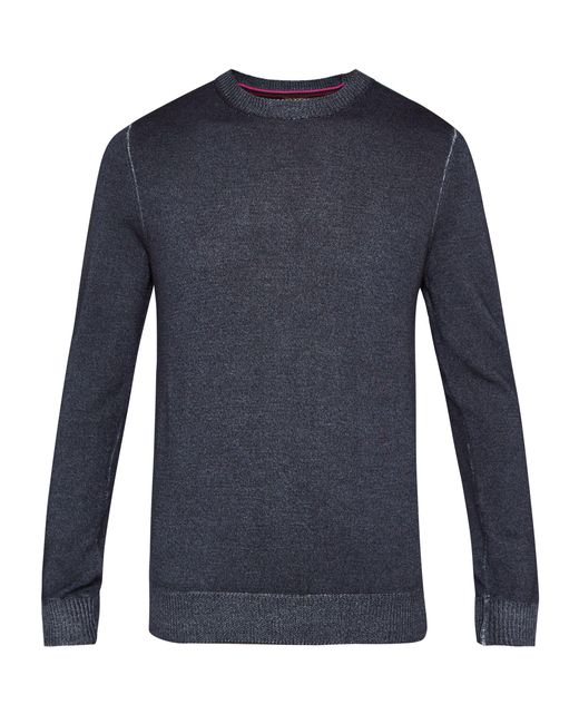 Ted Baker | Gray Abelone Crew Neck Wool Sweater for Men | Lyst