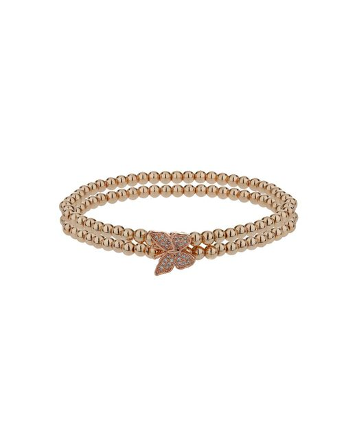 Mikey | Metallic Single Butterfly Twin Line Bracelet | Lyst