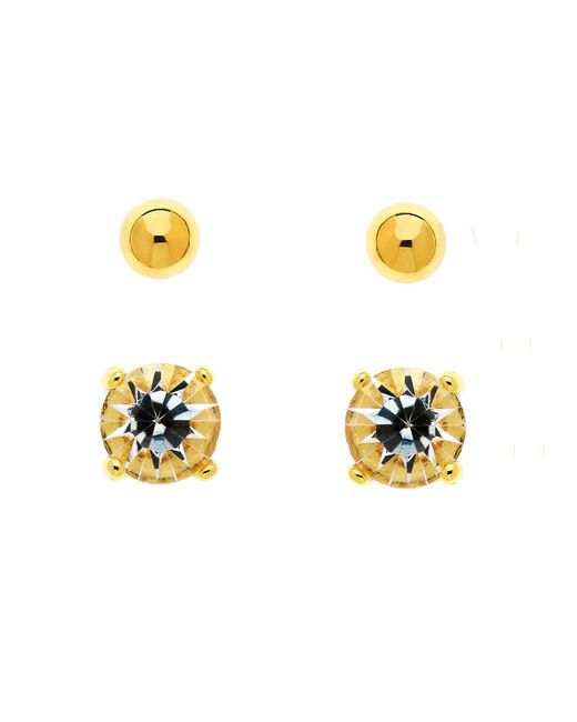 Melissa Odabash | Metallic Gold Crystal & Ball Stud Earrings | Lyst