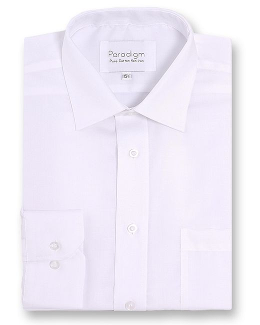 Double Two | White Paradigm King Size Double Cuff Pure Cotton Shirt for Men | Lyst