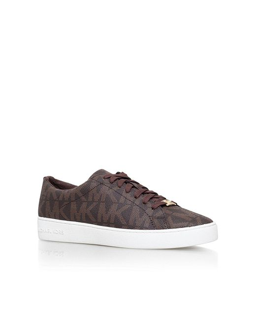 Michael Kors | Brown Keaton Flat Lace Up Trainers | Lyst