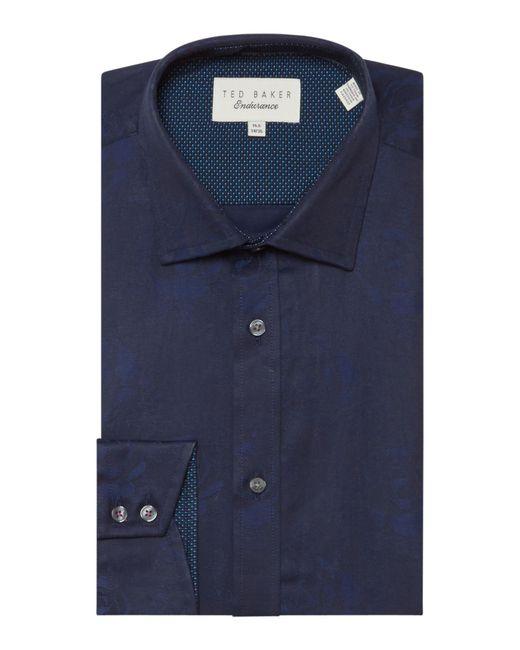 Ted Baker | Blue Men's Anook Tonal Textured Shirt for Men | Lyst