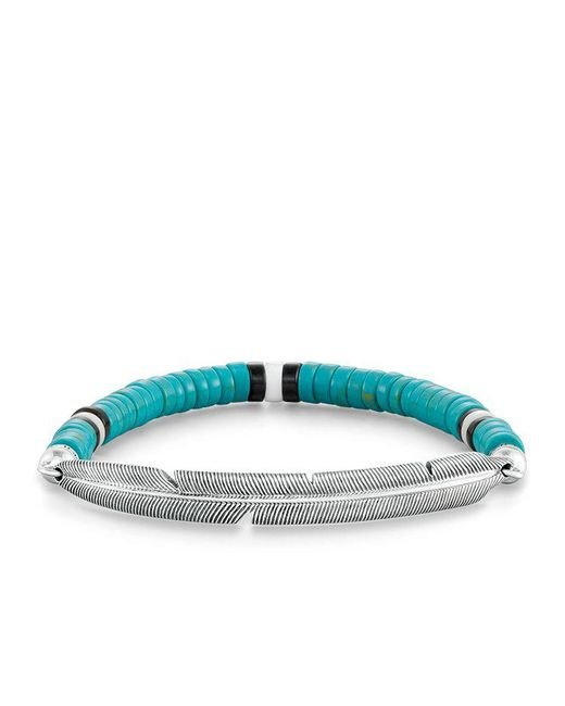 Thomas Sabo | Blue Ethno Feather Love Bridge Bracelet | Lyst
