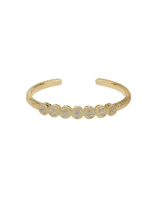 Mikey - Metallic 7 Round Embed Cubic Buttons Cuff Bangle - Lyst