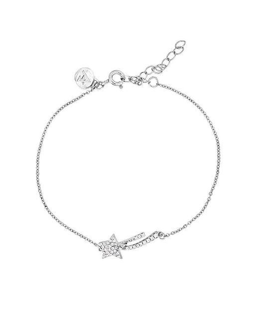 Azendi - Metallic Silver & Pavé Shooting Star Bracelet - Lyst