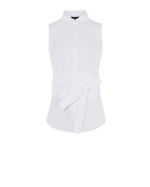 Karen Millen | White Deconstruct Shirt | Lyst
