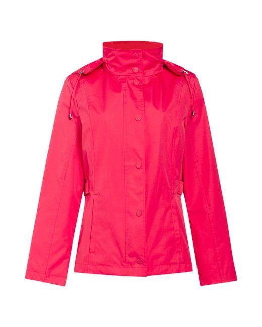 Cloud Nine - Pink Short Jacket With Packaway Hood - Lyst