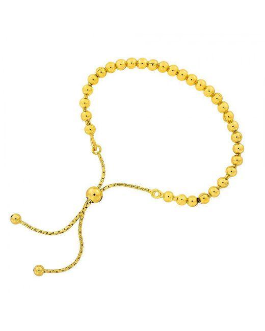 Azendi - Metallic Silver And Gold Vermeil Adjustable Bead - Lyst