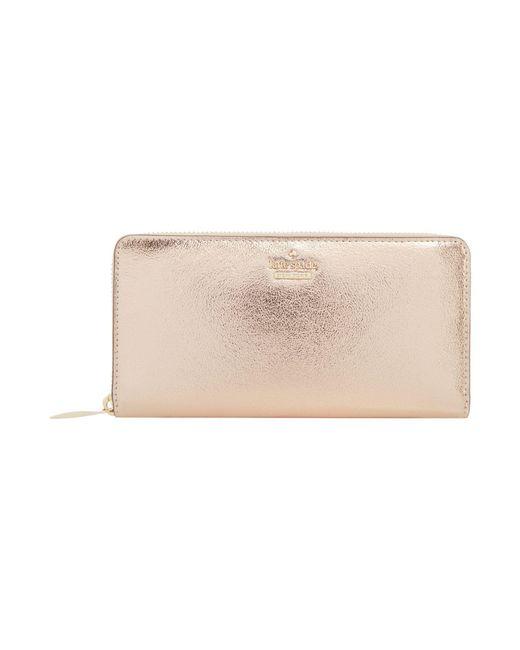Kate Spade | Pink Highland Drive Lacey Zip Around Wallet | Lyst