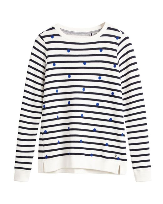 Sandwich | White Stripe Cotton Sweat Jumper | Lyst