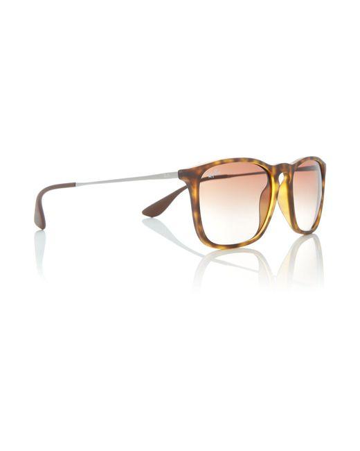 Ray-Ban - Brown Havana Rb4187 Chris Square Sunglasses for Men - Lyst
