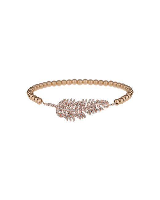 Mikey - Metallic Fine Cubic Leaf Elastic Bracelet - Lyst