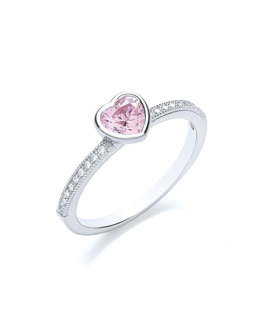 Bouton - Metallic Stacker Ring Heart - Lyst