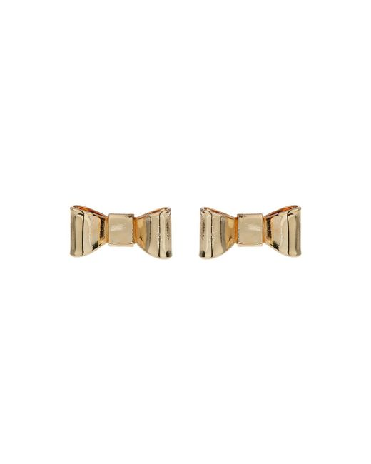 Mikey | Multicolor Flat Bow Stud Earring | Lyst