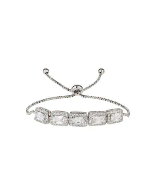 Mikey | White Rect Cubic Spike Beads Tie Up Bracelet | Lyst