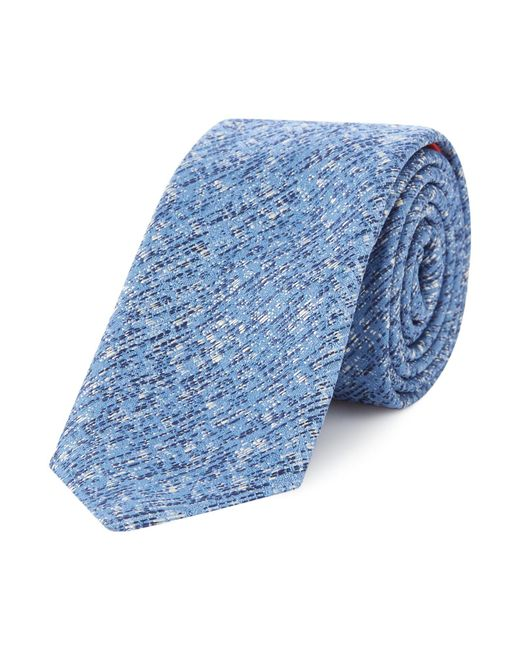 HUGO - Blue Two Tone Texture Tie for Men - Lyst
