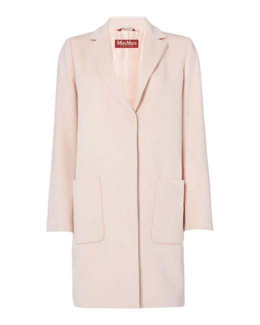 Max Mara Studio   Pink Summa Two Pocket Coat   Lyst