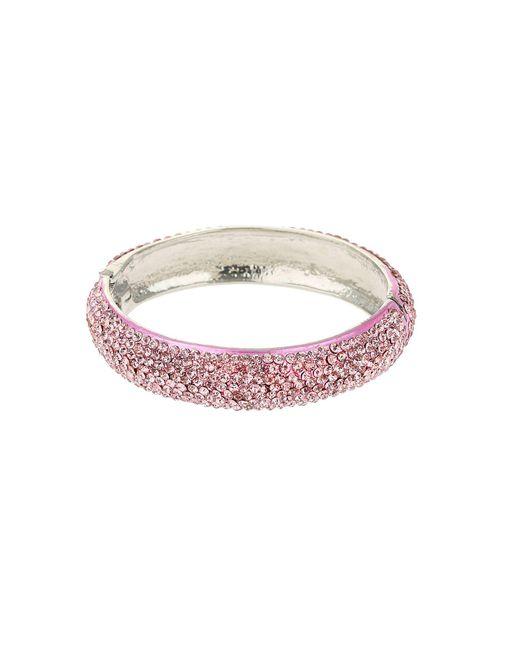 Mikey - Pink Thin Crystal Bracelet - Lyst