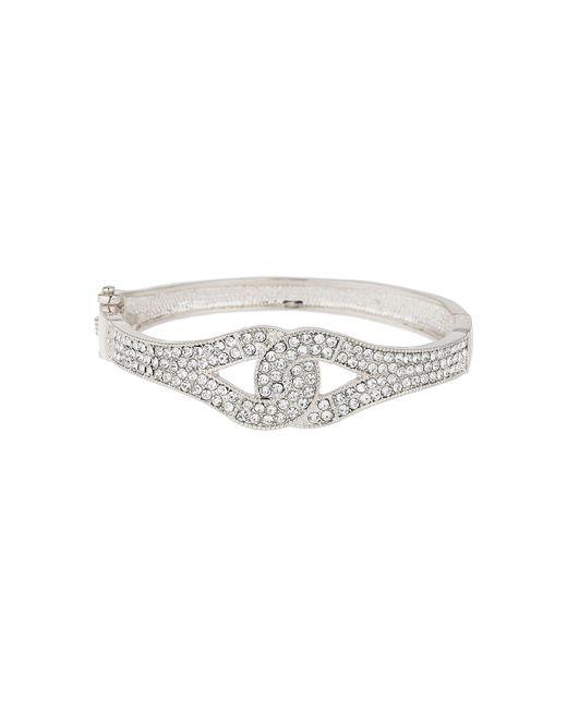Mikey - White Interlock Cubic Bangle Bracelet - Lyst