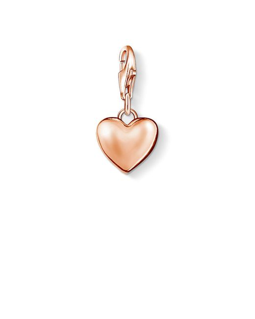 Thomas Sabo - Metallic Charm Club Heart Pendant - Lyst