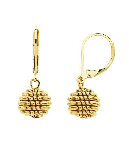 Monet - Metallic Spirals Gold Ball Leverback Earrings - Lyst