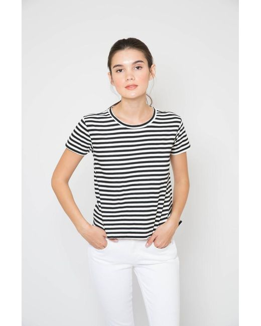AMO - Multicolor Seaton Stripe Twist Tee - Lyst