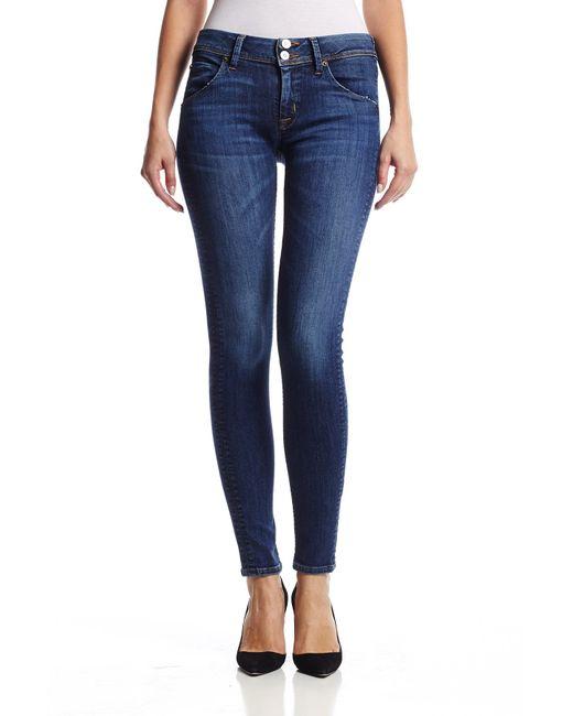 Hudson Jeans | Blue Collin Midrise Skinny | Lyst