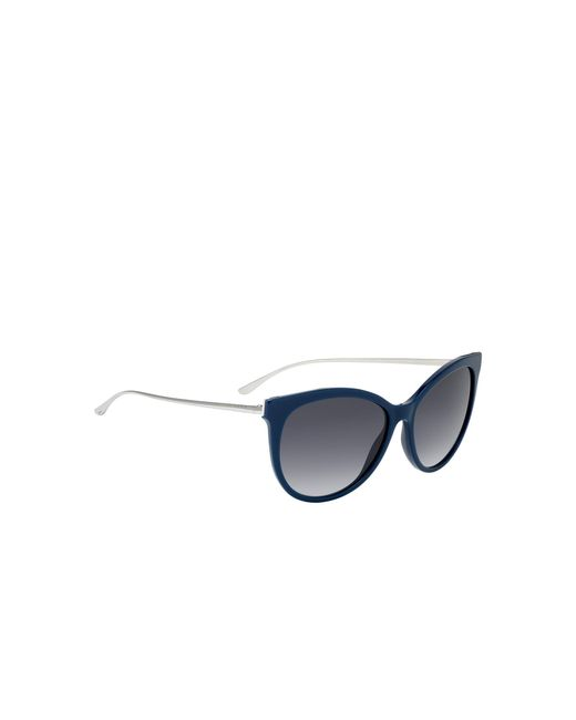 7a725a3dbc2f BOSS - Blue Cateye Sunglasses With Metal Arms - Lyst ...