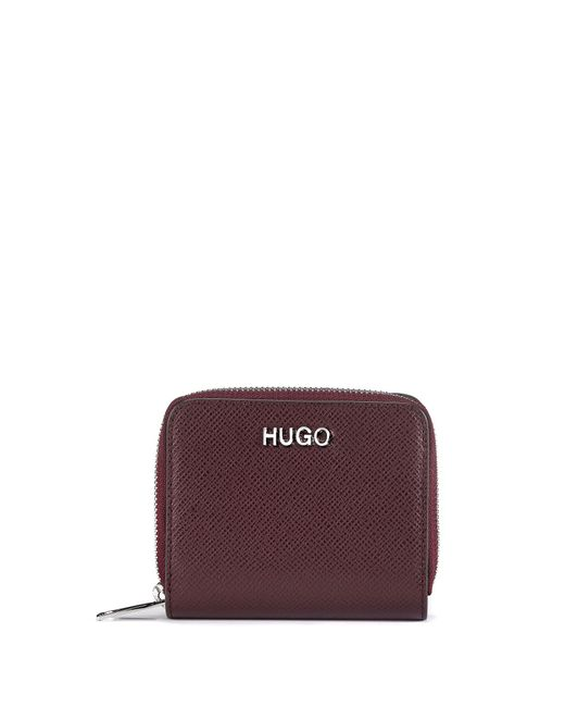 HUGO Red Zip-around Wallet In Saffiano Leather