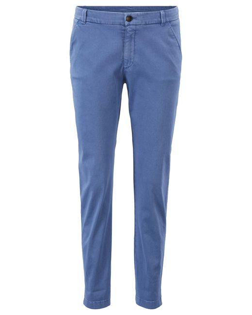 BOSS - Blue Regular-fit Chinos In Satin-touch Stretch Cotton - Lyst