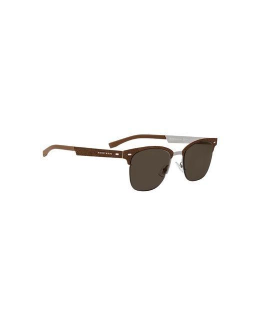 a58ba48d3c6 ... BOSS - Brown Ultra-light Sunglasses With Alcantara Detail for Men - Lyst  ...