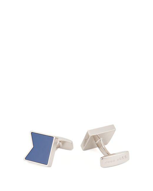 BOSS - Blue Enamel & Brass Cufflinks for Men - Lyst