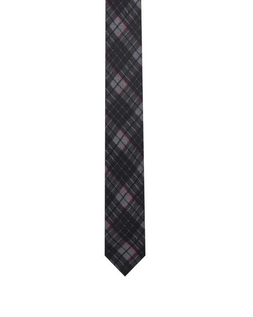 HUGO - Red Checked Tie In Pure Wool for Men - Lyst