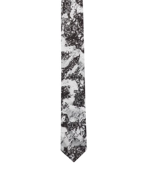 HUGO - Black Silk Tie With Snow Camouflage Print for Men - Lyst