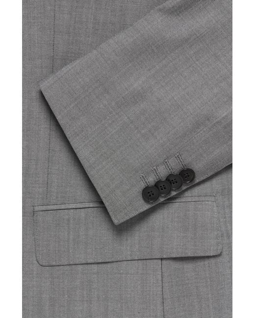 fd38fd959 ... BOSS - Gray Italian Super 110 Virgin Wool Suit, Slim Fit | Huge/genius  ...